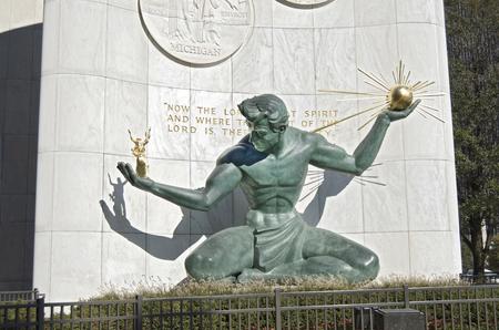Spirit of Detroit Statue In Downtown Detroit
