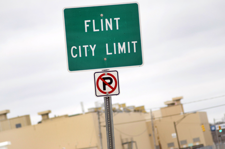 flint: Flint City Limit Sign, Entering Flint, Michigan