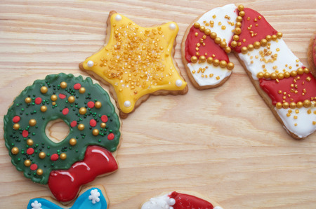 Artistically Decorated Christmas Cut-Out Cookies