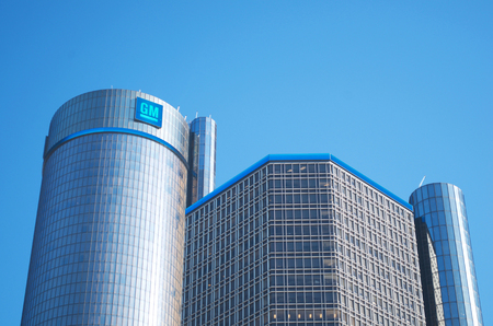 General Motors World Headquarters, Detroit Renaissance Center January 26, 2018 Stock Photo - 104681812