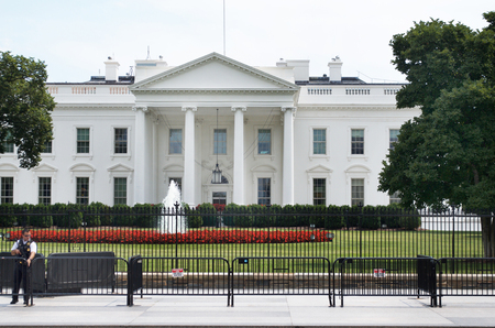 The White House Under Heavy Protection and Guarded By Officer Editorial