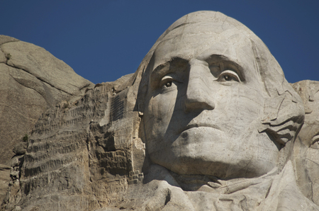 The Face of George Washington on Mount Rushmore National Monument and Park