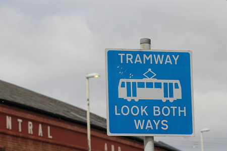 tramline: tramway sign