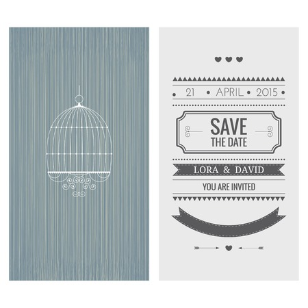 Wedding invitation card. Save the date. Vector illustration Vector