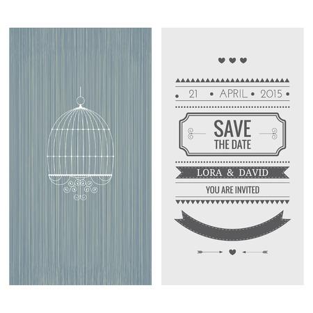 Wedding invitation card. Save the date. Vector illustration Vector
