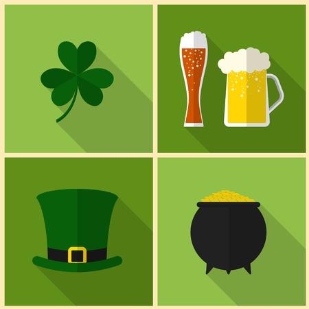 saint patrick's day: Saint Patricks Day. Modern flat design, icons