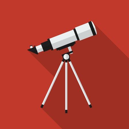 telescope: Flat telescope with long shadow. Illustration