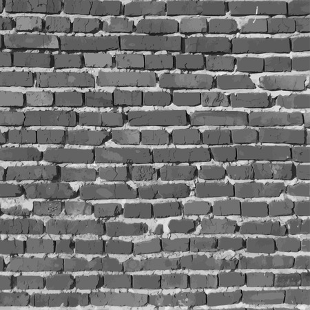 Black and white brick wall.. You can remove blurred part and use full background Stock Illustratie