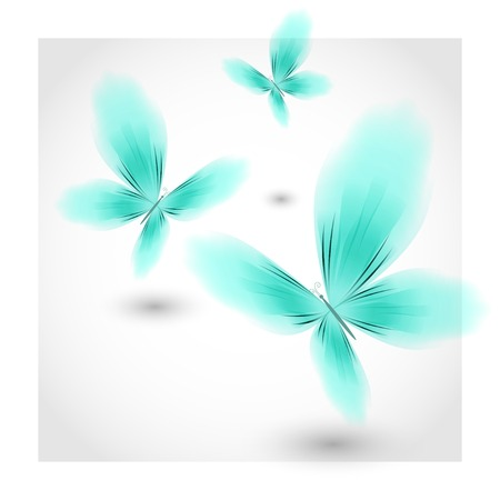 libbenő: Light blue butterflies fluttering air