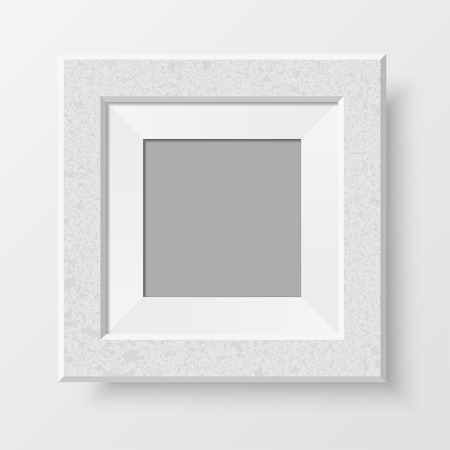 passepartout: Realistic photo frame. Blank passe-partout for your design projects