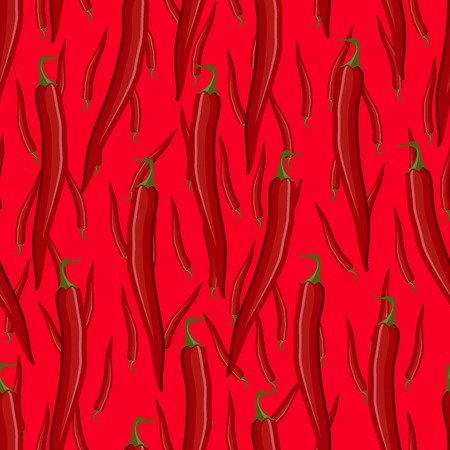 Red hot chili pepper seamless pattern