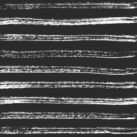 Horizontal charcoal lines. Vector hand-crafted black texture