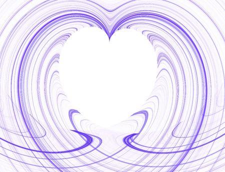 보라색과 흰색 심장 복사 공간