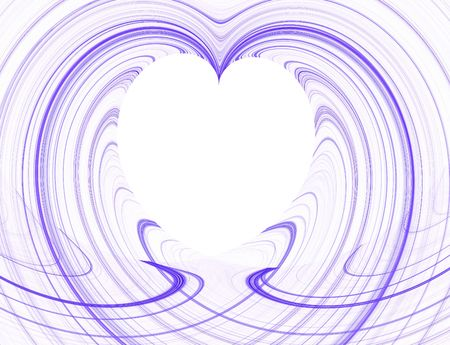 Purple and White Heart Copy Space Stock Photo - 4203544