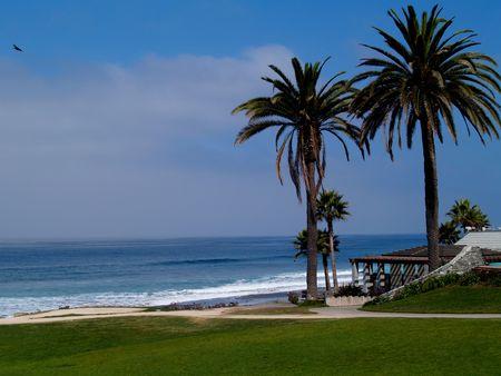 Park on a beach north of San Diego, California.