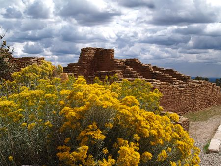 Ruins in Mesa Verde National Park, Colorado.     photo