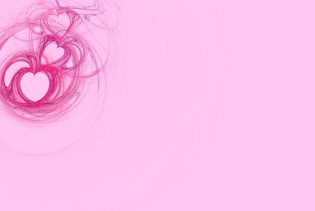 Hot Pink heart design on a pastel pink background with copy space for powerpoint, stationary, etc. photo