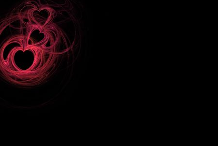 Red heart design on a black background with copy space for powerpoint, stationary, etc. Stock fotó - 4239883