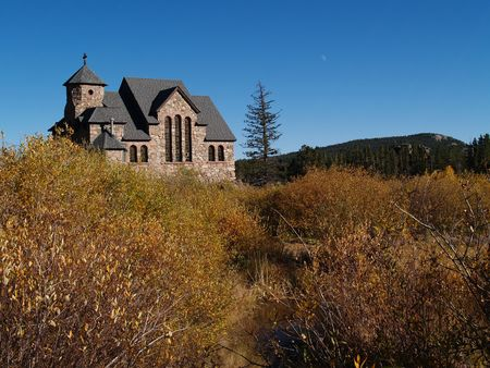 Old Historic church in the Colorado  Rocky Mountains.  photo
