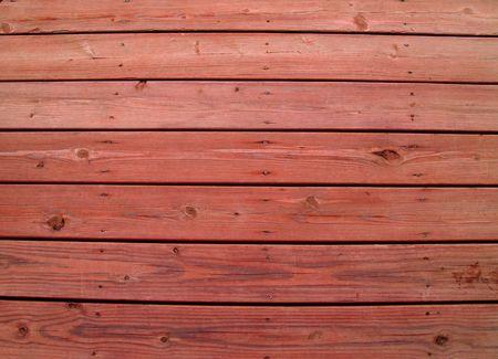 Assicelle di legno su un ponte di legno alterate con sequoia macchia. Archivio Fotografico