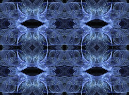 Seamless abstract fractal wallpaper in blue, baby blue, white and black. photo