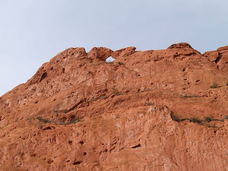 "Beautiful red rocks at ""Garden of the Gods"" in Colorado Springs, Colorado.  This formation is called Kissing Camels.     Stock fotó"