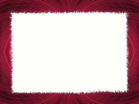 digital: Red Fractal Border with White Copy Space which can be used for letters Stock Photo