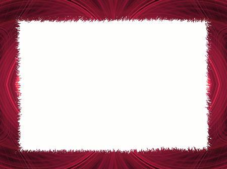Rojo con blanco de fronteras fractal Copiar espacio que puede ser utilizado para las letras Foto de archivo - 4375701
