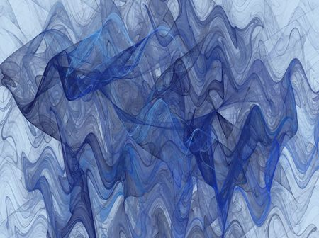 variegated: Wavy Fractal Background in Shades of Blue