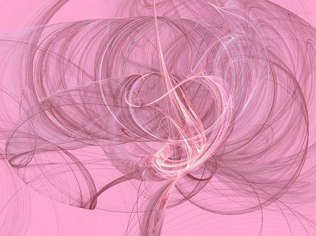 Pink smoky fractal swirls on a pink background.