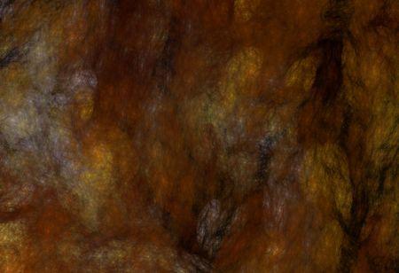 Grunge gemarmerd fractale patroon in roest, zwart, goud en bruin.
