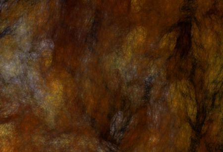 Grunge marbled fractal pattern in rust, black, gold and browns.