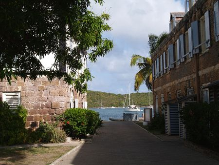 antilles: English Harbour in Nelsons Dockyard National Park, on Antigua Barbuda in the Caribbean Lesser Antilles West Indies.    Stock Photo