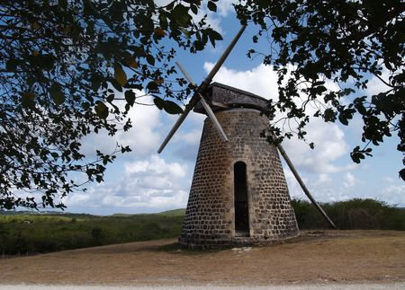 antilles:       Old windmill on Bettys Hope Plantation near Seatons, Pares on Antigua Barbuda in the Caribbean Lesser Antilles West Indies.