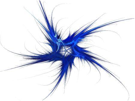 Patriotic swirling blue fractal star on a white background. Reklamní fotografie