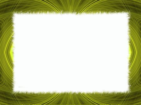 power point: Gold and yellow fractal border with white copy space.