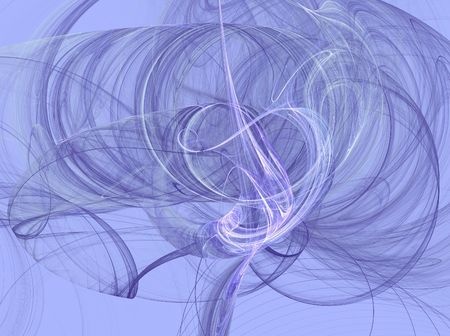 variegated: Lavender smoky fractal swirls on a Lavender background.