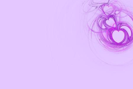 Lavender heart design on a pastel pink background Standard-Bild