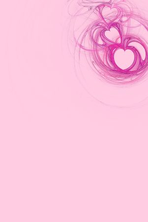 Hot pink heart design on a pastel pink background  Imagens