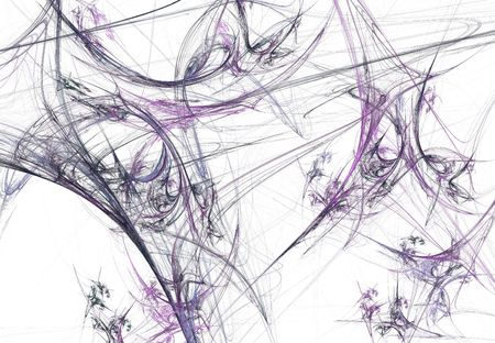 spun: Gray and lavender fractal spider webs on a white background this is ideal for Halloween.