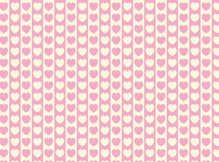 swatch heart striped fabric wallpaper in pink and ecru that matches Valentine borders. Stock Vector - 6352555