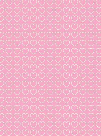 心臓、ストライプ、ストライプ、ビクトリア朝、ビンテージ、縫製、ピンク、藤色、ベージュ、白、かわいい、デザイン、パターン、背景、背景、  イラスト・ベクター素材
