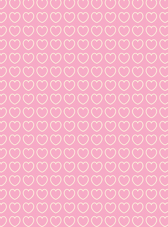 victorian valentine: heart, striped, stripe, Victorian, vintage, sewing, pink, mauve, ecru, white, cute, design, pattern, backdrop, background, decorative, valentine, day, valentines, valentines day, valentines day, graphic, computer, computer graphic, scrapbook, scra Illustration
