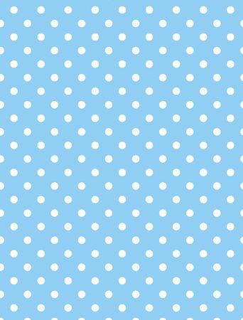 Sfondo blu con puntini bianchi di polka. Archivio Fotografico