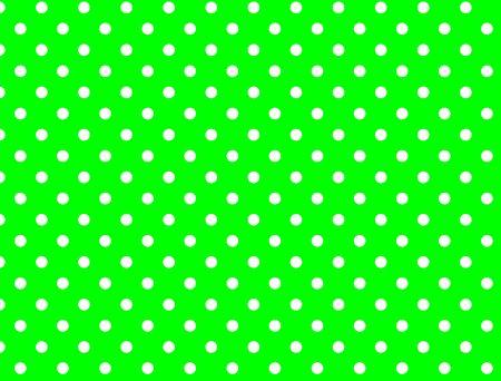 흰색 폴카 도트와 녹색 배경입니다.