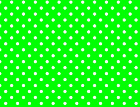 Green background with white polka dots. Stockfoto