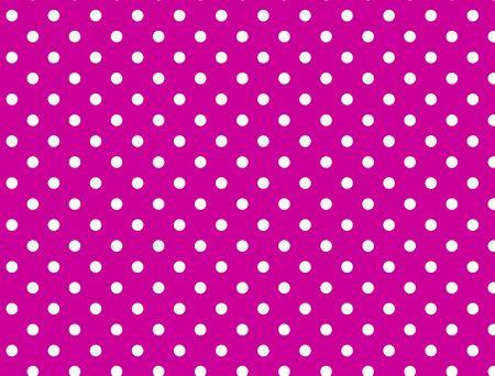 하얀 폴카 도트와 핑크 배경입니다. 스톡 콘텐츠