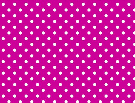 Pink background with white polka dots. Standard-Bild