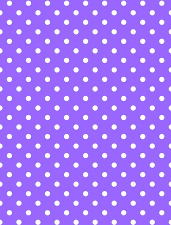 polka dotted: Purple background with white polka dots. Stock Photo