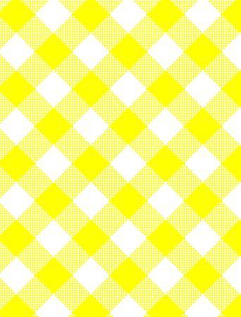 Tissé jaune et blanc gingham fabric.  Banque d'images - 6805221